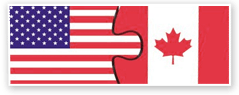 US Canadian Puzzle Piece